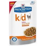 Hill's k/d (консервы для кошек при заболеваниях почек, с курицей)